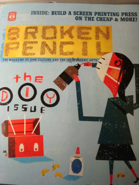The cover of this summer's issue of Broken Pencil