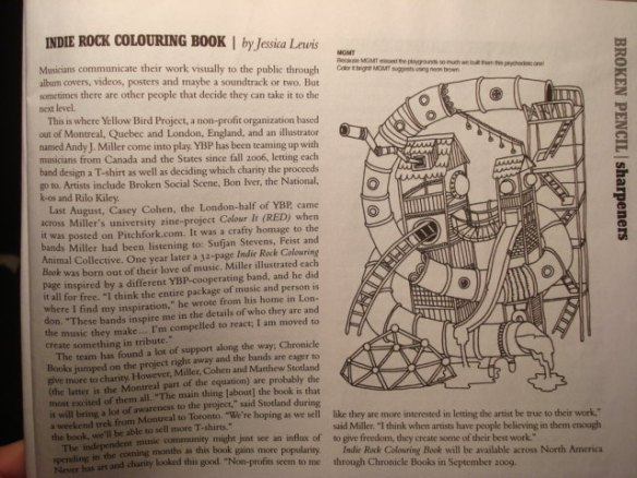 My article on the Indie Rock Colouring Book. Click to enlarge.