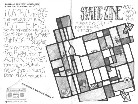 static zine - cover